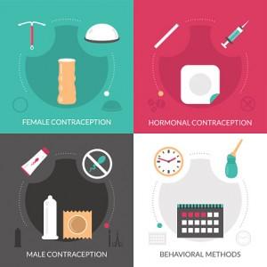 Contraception Concept Icons Set